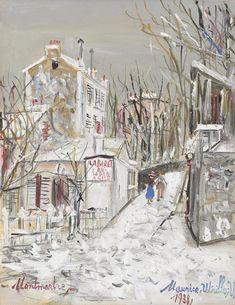 Maurice Utrillo, Cabaret 'Le Lapin Agile', 1938, gouache (Private collection)