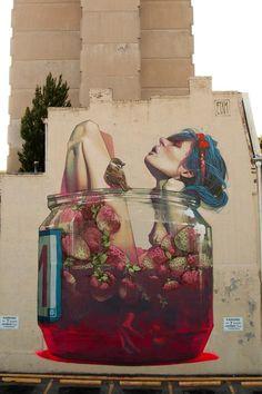 Street art/graffiti/tag.  MOONSHINE -  Richmond Mural Project  (Richmond, VA, United States)  2013