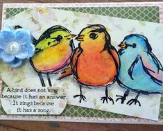 Cute card made in the Card Club at Absolutely Everything.  Photo from Newsletter 4/18/14.