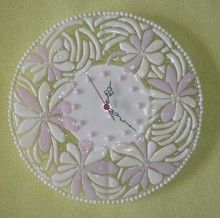 Art Glass Wall Clock VANILLA fusing