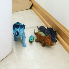 A family of triceratops moved into our kitchen. Is there a spray to get rid of them? Or do I need to call an exterminator?  #dinosaurs