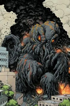 Cthulhu-like cool art Cool Monsters, Horror Monsters, King Kong, Giant Monster Movies, Japanese Superheroes, Japanese Monster, Japanese Film, Mecha Anime, Creature Feature