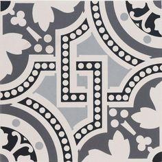 Salisbury Black on Dover White Tile Edwardian Hallway, Edwardian Bathroom, Edwardian House, Edwardian Conservatory, Victorian Terrace, Bathroom Artwork, Bathroom Floor Tiles, Tile Floor, Toilet Tiles