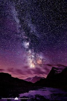 Milky Way over Punta Basei- Col du Nivolet by Edoardo Brotto ~