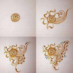 Step by step doodles henna pictorial mehndi hennainspire doodles Step by step doodles hen Henna For Beginners, Beginner Henna Designs, Mehndi Art Designs, Mehndi Images, Simple Mehndi Designs, Henna Tattoo Designs, Henna Tattoos, Doodle Designs, Art Tattoos