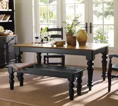 Best Table Ideas Images On Pinterest Antique Dining Tables - Pottery barn black dining table