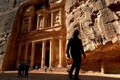 Petra and Wadi Rum, Jordan  Like it if you want to visit this for this winters and book at Flightbase.com!