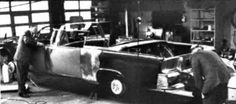 11/25/63: At the Ford Motor Company, SS100X   - the death car - is stripped and rebuilt.