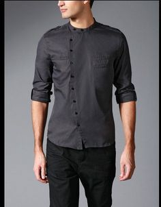 Chinese style side button shirt