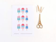 Make   party | Printable popsicle cake toppers