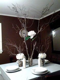 Working Version: Rustic Centerpieces :  wedding brown diy white Centerpiece1