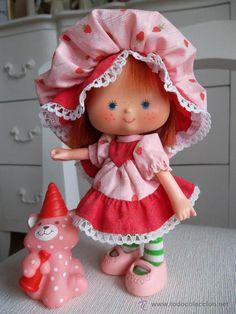 muñeca tarta de fresa, años 70-80