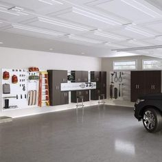 Flow Wall Dream Garage Deluxe 96 H x 432 W x 20 D Storage Cabinet Set Color: Silver Man Cave Garage, Garage House, Dream Garage, Garage Shop, Car Garage, Garage Closet, Armoire Garage, Garage Storage Cabinets, Garage Organization