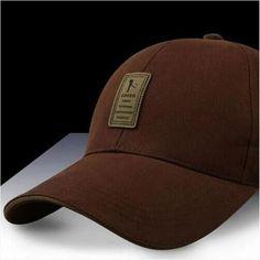 EDIKO And Golf Logo Cotton Baseball Cap Sports Golf Snapback Simple Solid Hats  For Men Bone 211ca1a60069