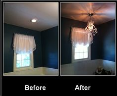 Simple things like changing out a light fixture makes a difference. I really love how our master bath looks now.