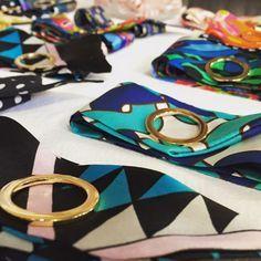 Wrist scarf /twilly bracelet / silk bracelet by Silk Philosophy.