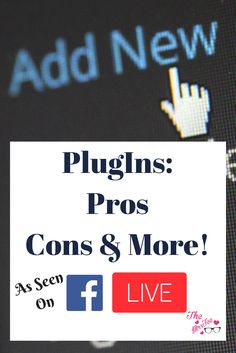 PlugIns. Those little Add-Ons we all use to enhance, improve or add to the design and eye appeal of our sites. In this post, I'm sharing both the Pros and Cons of PlugIns and more to to help you make the most of them for your Wordpress Site.