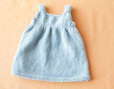 Free Knitting Pattern Baby Sweater Dress | Baby Knit Patterns