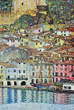 Malcesine on Lake Garda, by Gustav Klimt