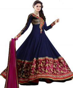 Livaaz Georgette Embroidered Semi-stitched Salwar Suit Dupatta Material Price in India - Buy Livaaz Georgette Embroidered Semi-stitched Salwar Suit Dupatta Material online at Flipkart.com