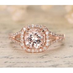 Shop Rose Gold Morganite And Diamond Ring online from MyRayGem, Choose from a stylish range in variety of sizes. Find your morganite engagement rings today Morganite Engagement, Halo Diamond Engagement Ring, Diamond Wedding Bands, Morganite Ring, Bridal Rings, Wedding Rings, Wedding Flowers, Wedding Dresses, Big Engagement Rings