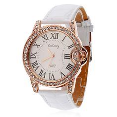 diamante reloj de las mujeres de marcado números romanos - USD $ 4.99