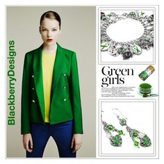 """""""Green Girls (Blackberry Designs on Etsy #12)"""" by shambala-379 ❤ liked on Polyvore featuring Zara and Green Girls"""