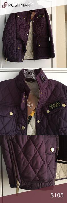 BNWT!! ⚡️⚡️⚡️Barbour International Quilt Jacket Gorgeous brand spanking new Barbour jacket!Euro sz 12, fits like a US 8 or 10. Color grape. High quality!! Barbour Jackets & Coats Utility Jackets