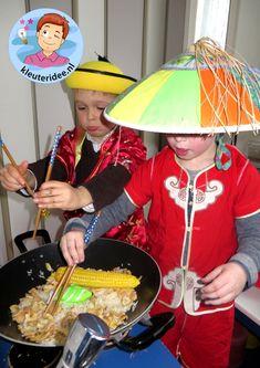 Chinees rollenspel in de huishoek, wokken 2, thema China, kleuteridee