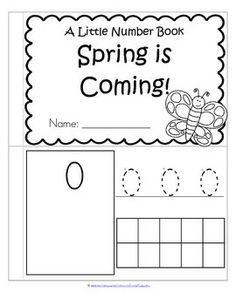 This is a booklet to review and practice counting and number recognition 0-10 with a SPRING theme. Children can recognize the numerals, count the sets, trace the numbers, and fill in the 10-frames by stamping or coloring.