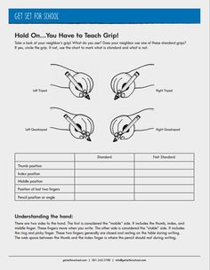 Teaching grip is so important for our young learners. This download offers several helpful tips about how to help students achieve proper grip.