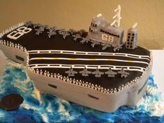 Aircraft carrier cake