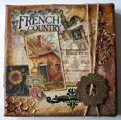 French country. 1 by astrid.maclean, via Flickr Art journal inspiration.