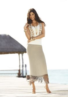 Style Cue: We love to liven up our neutrals with a bit of fringe, embroidery, & shimmer. #chicos