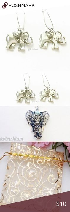 """🔴🆕Elephant boho silver earrings Brand new. Items may appear bigger in picture. Approx 0.7"""". lease ❌trade and ❌ offers. Please send an offer with appropriate discount if buying a bundle. Price is firm unless bundled.‼️ Elegant Jewelry Jewelry Earrings"""