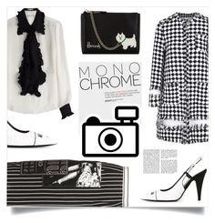 """Monochrome style"" by dorinela-hamamci ❤ liked on Polyvore featuring MSGM, Moschino, Harrods, Emilio Pucci, Miu Miu, monochrome, polyvorecontest and polyvoreditorial"