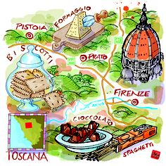 Carlo Stanga - Tuscany food map and for La Repubblica newspaper