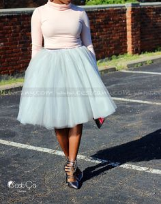 New to CestCaNY on Etsy: Cassie - Dove Gray Tulle Skirt Puffy Tulle Skirt Silver Princess Tutu Midi Tulle Skirt Plus Size Tulle Skirt (79.00 USD)