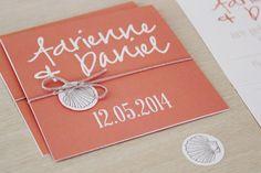 Beach DIY printable wedding invitation by StationeryPolkadot,