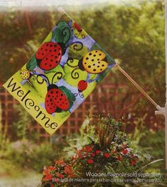 ladybug girl house flags garden flags lawn and garden home and garden large homes better homes and gardens ladybugs goodies - Large Garden Flags