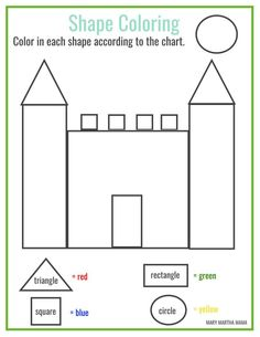 Free Printable House Shapes Worksheet I would use this at the