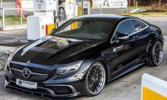 Mercedes S-Klasse Coupé - ... Prior Design nicht bekannt. Allerdings dürften je Seite locker zehn Zentimeter oder gar mehr hingekommen sein. Platz, die Alufelgen bis zu einer Größe von 23 Zoll füllen können. Für die Präsentation des Mercedes S-Klasse Coup