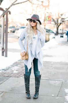 Great outfit... I have the jeans and the boots... but that sweater is amazing! Size med...