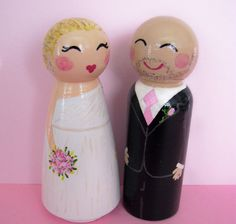 Hand Painted Love Boxes Custom Wedding cake toppers by handpaintedloveboxes via Etsy 115 dollars