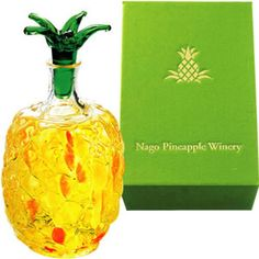 You can get some of this at Pineapple Park! Okinawan Pinapple wine- I've tried this! Pineapple Kitchen, Alcohol Bottles, Perfume, Bottle Packaging, Bottle Design, Wine Drinks, Fruit, Packaging Design, Liquor