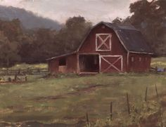 The Horse Barn, painting by artist Jason Tako