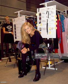 Karen Mulder backstage at Karl Lagerfeld SS 1995