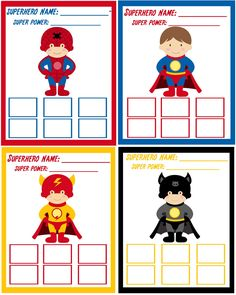 Super hero training academy cards