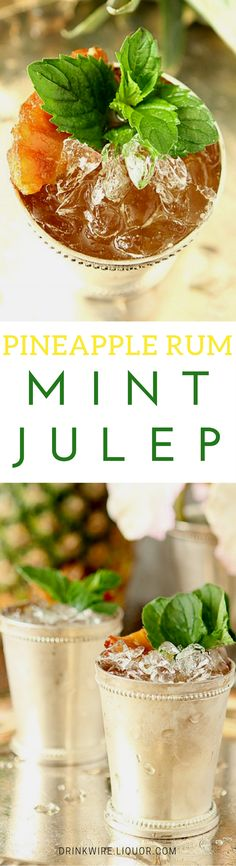 Did you know that Juleps don't have to be made with bourbon? They are simply a family of drinks that combine mint, sugar and crushed ice with pretty much whichever spirit you choose. Try this rum and pineapple spiked version -- you won't be disappointed.
