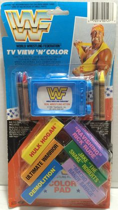 1991 Titan Sports WWF WWE Wrestling TV View 'N' Color - Hulk Hogan This item is NOT in Mint Condition and is in no way being described as Mint or even Near Mint. Our toys have not always lead the perf